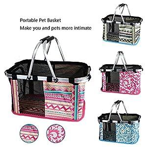 Zealux® Portable Confort 30,5cm et 43,2cm souple Face Pet extérieur Voyage Sac de transport pour chat/chien Petits Animaux Tote Panier