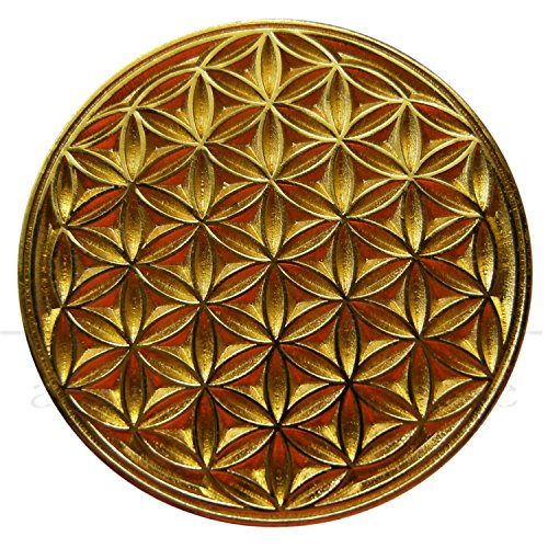 EnerChrom Unisex Blume des Lebens Magnet-Pin – Metall-Kleider-Button