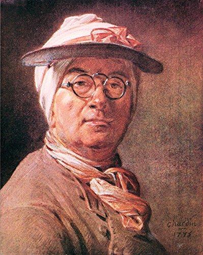Das Museum Outlet-Selbstporträt mit Brille von Jean Chardin, gespannte Leinwand Galerie verpackt. 29,7x 41,9cm
