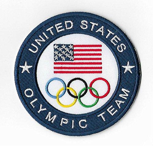 United States Olympic Team Patch (9cm) brodée fer à repasser ou à coudre badge Applique souvenir DIY Costume USA Jeux Olympiques Anneaux Logo