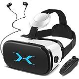 YEMENREN 3D VR Brille, VR Headset mit Bluetooth Controller und Kopfhörer, 120° FOV, HD Virtual Reality, Anti Blu-ray…