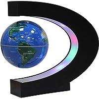 Ardermu Magnetschwebebahn Floating Globe mit C-Form - Beleuchtet 3 Zoll Globe Weltkarte zum Lernen Geschenk Home Office…
