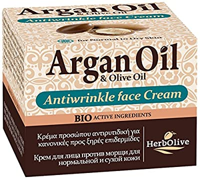 Herbolive Anti Wrinkle Argan Face Cream for Normal To Dry Skin 50 ml by Madis Sa