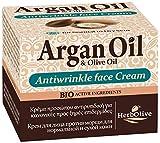 Herbolive Argan Antifalten-Gesichtscreme für normale bis trockene Haut 1er Pack (1 x 50 ml)