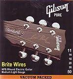 Gibson Gear SEG-700ML Brite wires Cordes pour Guitare électrique Medium 11-50 cordes