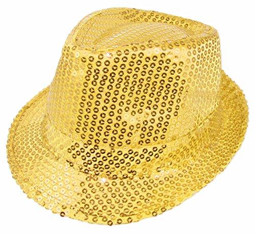 Trilby Hut mit Pailletten - (Showgirl Kostüm Vegas)