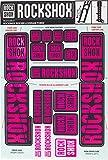RockShox Aufklebersatz 35mm Magenta, Boxxer/Domain Doppelkrone, 11.4318.003.521 Ersatzteile Standrohre und Doppelbrücke