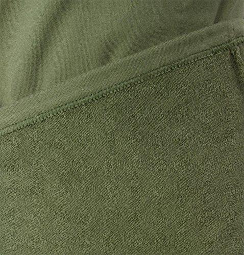 Winter Unterwäsche Thermo Plüschset aus Rollkragenpullover und Hose Oliv