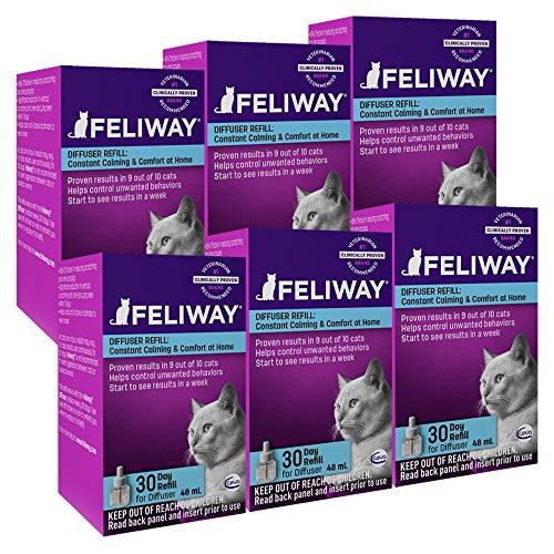 Artikelbild: CEVA Feliway Zerstäuber - Set: Anti - Stressmittel gegen unerwünschtes Katzenverhalten (Kratzmarkieren, Pinkeln, etc.) (6 Zerstäuber - Sets)
