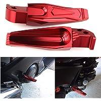 Terisass 2 pezzi Pedane moto Pedane Pedane Lega di alluminio Pedane passeggero Pedane Pedane Poggiapiedi Pedane Pedane Pedane Poggiapiedi Colore rosso