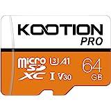 KOOTION Micro SD 64GB Scheda MicroSDXC Scheda Memoria 64G U3 Memory Card 64 Giga UHS-I A1 4K Memory Card Alta Velocità di Let