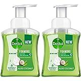 Dettol Foaming Handwash Pump - Aloe Coconut (Pack of 2-250ml each)   Rich Foam   Moisturizing Hand Wash   Soft on Hands
