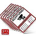 Achtung Videoüberwachung Premium Aufkleber – Schild – Sticker |Hinweisschild – Warnschild für mit Kamera videoüberwachtes Objekt – Haus – Gelände| kratz- wetterfest|10 x 10 cm