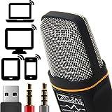 Profesional del micrófono de condensador cardioide con soporte del trípode para PC, ordenador portátil, iPhone, iPad, Android Phones, Tablets, xBox y YouTube grabación por ZaxSound