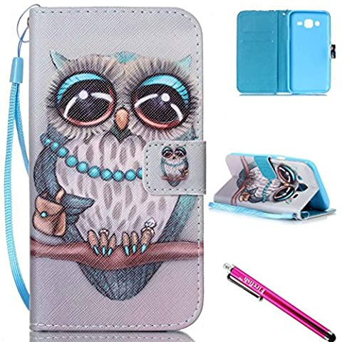 Galaxy J5 2015 Case, FIREF1SH [Kickstand] Flip Folio Wallet Cover