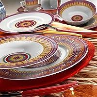 Kütahya Porselen Mitterteich 8661 24 Parça Etnik Yemek Takımı