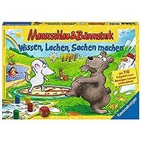 Ravenburger-21298-Mauseschlau-Brenstark-Wissen-Lachen-Sachen-machen-Kinderspiel Ravensburger Kinderspiele 21298 – Mauseschlau & Bärenstark Wissen, Lachen, Sachen machen -