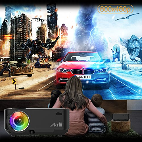 Movie Projector  Artlii Portable Home Projectors with 2000 lumens for Movies  Video  Games  Sport Match with HDMI  VGA  AV SD and USB Port