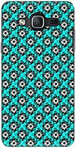 The Racoon Lean printed designer hard back mobile phone case cover for Samsung Galaxy On7. (Cyan Swirl)