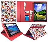 Bush Spira B3 10 Inch HD Tablet PC Multi Animal Universal Wallet Case Cover Folio ( 10 - 11 inch ) by Sweet Tech