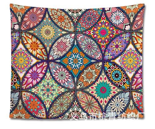 QGUATAN Tapiz Muebles Decorativos Pintura tapicería Mandala Flor drapeados tapicería Bohemia Pintura Decorativa, pop-333, 200X150cm