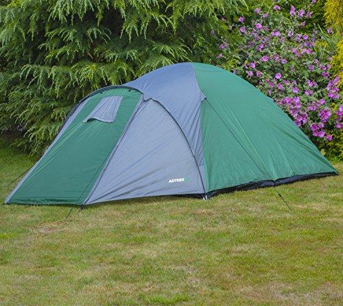Adtrek Double Skin Dome 4 Man Berth Camping Festival Family Tent