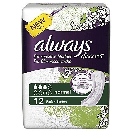 always-discreet-normal-incontinence-pads-pack-of-36-3-x-12