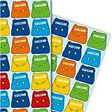 Buntes Einschulungs Geschenkpapier Set (4 Bogen) | Dekorpapier mit Schulranzen