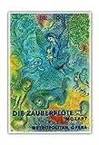 La flûte enchantée - Mozart - Opéra Métropolitain - Ancienne affiche publicite Vintage Poster by Marc Chagall c.1966 - Reproduction Professionelle d'art Master Art Print - 33cm in x 48cm