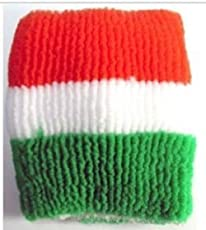 SMARTBUYER Indian Independence Day, Republic Day Tricolor Wristband (Pack of 6)