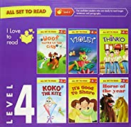 All set to Read- Readers Level 4- For confident readers- READERS- 6 books in a Red Box
