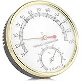 Thermomètre Hygromètre Sauna 2 en 1 Hygrothermograph Sauna Accessoire pour maisons Bureaux Ateliers Écoles Marchés Entrepôts