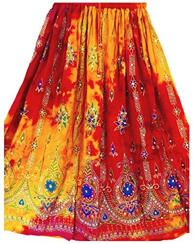 Bunte Womans Damen Indianer Boho Hippie Zigeuner Sequin Sommer Sommerkleid Maxi Bauchtanz Rock 9