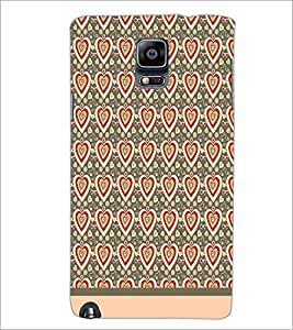 PrintDhaba Heart Pattern D-1598 Back Case Cover for SAMSUNG GALAXY NOTE 3 (Multi-Coloured)