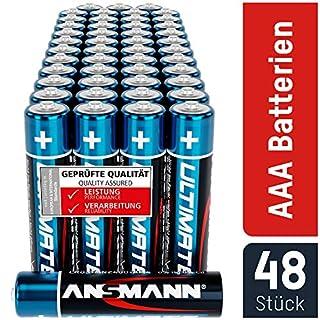 ANSMANN Batterien AAA 48 Stück - Alkaline Micro Batterie ideal für Lichterkette, LED Taschenlampe, Spielzeug, Fernbedienung, Wetterstation, Radio, Nachtlicht, Uhr - umweltschonende Verpackung