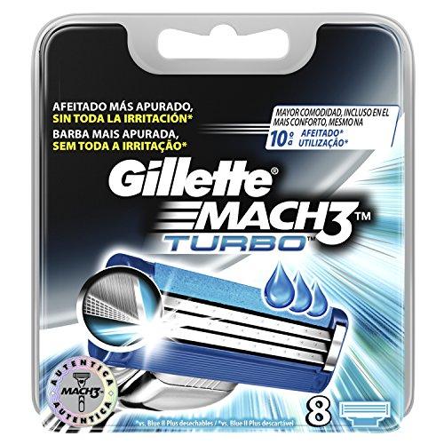 Gillette Mach 3Turbo di ricambio rasoio da barba per uomo-8pezzi