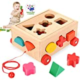 O-Kinee Gioco Forme Incastro Classic Toy Cubo Giocattolo Educativo in Legno Gioco Didattico per Promuovere Il Riconoscimento