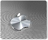 Aluminium Effect Apple Logo - Quality Mouse Mat