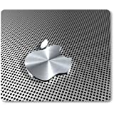 Mauspad mit Apple-Logo, Aluminium-Optik