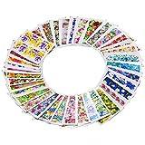 Bluelans 50 Blatt Nagel Kunst Aufkleber, Blume Nagelaufkleber / Nagelsticker / Nail Tattoo / Nail Sticker / Nailart Tips-Dekorationen