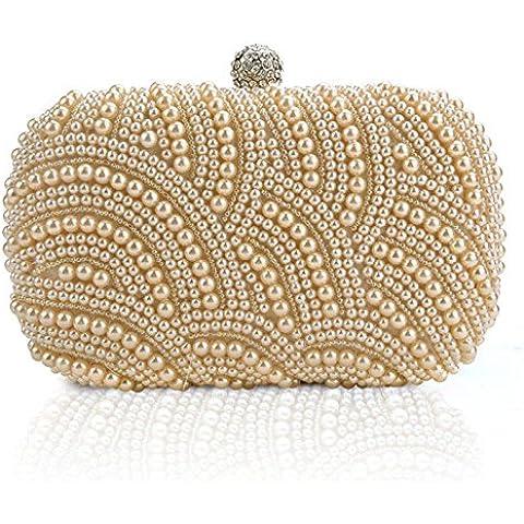 ZEARO Bolso de Fiesta Boda Salir para Mujer Cartera de Brillante Con Diamantes Bolso de Mano