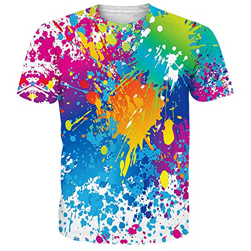 NEWISTAR Unisex Herren Damen Couple 3D WM-Fußball-Fans Aquarell T Shirts Tee Short Sleeve Shirts M