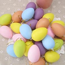 Climberty 10 Pcs Colorful Plastic Fake Eggs Easter Eggs