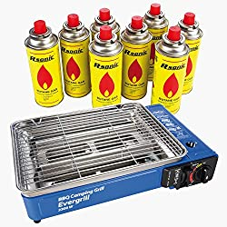Angel DomäneButangas Camping Grill Evergrill incl. 8 Kartuschen (MSF-1A)
