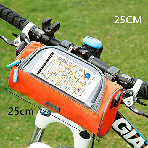 Fahrrad-Beutel Fahrrad-vordere Schlauch-Rahmen-Radfahrenpakete, Touch Screen-Handy-Beutel Berufsfahrrad-Zusätze Rosa