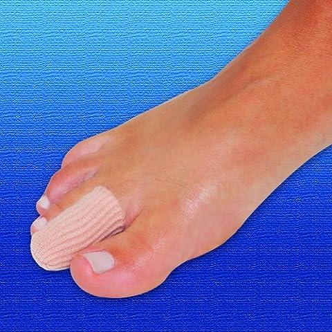 Silipos Disques pour bouchons numérique   x2  poignets en tricot doublé en tissu avec gel de qualité médicale Huile minérale  protects les orteils ou les doigts   maïs et les callosités Soulagement de la Douleur