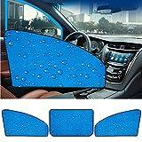 Smartrich Rideaux de voiture magnétiques rétractables à couche unique de 1PCS - pare-soleil de voiture égouttant le siège arrière d'ombre