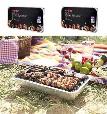 2 X Größe der Familie Bar-Be-Quick-Quick Grill-Packs Jede Packung Feeds zu 10 Personen beste Weltmarktführer Einweg-Grill