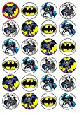 24x Batman (# 2) Cupcake Kuchen Topper