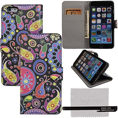 xhorizon® Aquarell PULeder Brieftasche Stand Case Hüllefür 5.5 Inch iPhone 6+ Plus #6